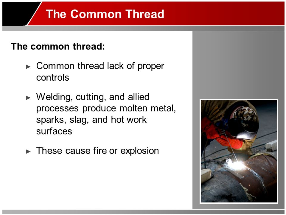 The Common Thread The common thread: