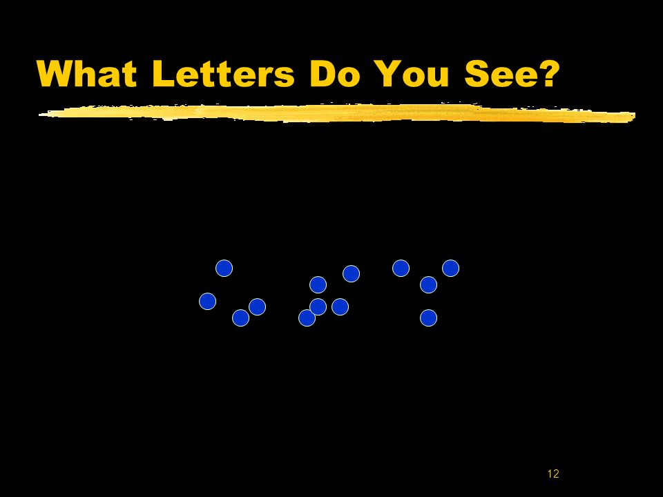 What Letters Do You See Key words: modal model of the mind; stage model of memory; sensory memory; iconic memory; Sperling.