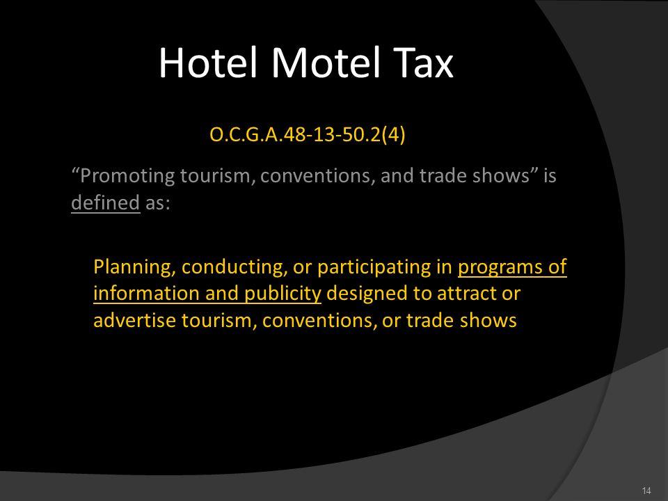 Hotel Motel Tax