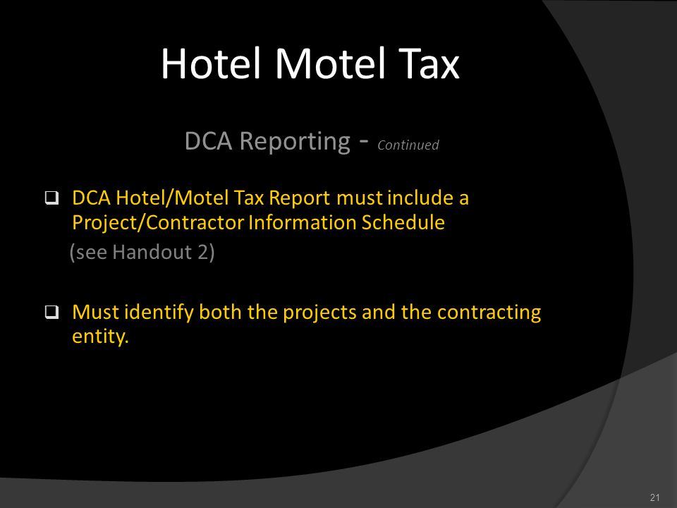 DCA Reporting - Continued