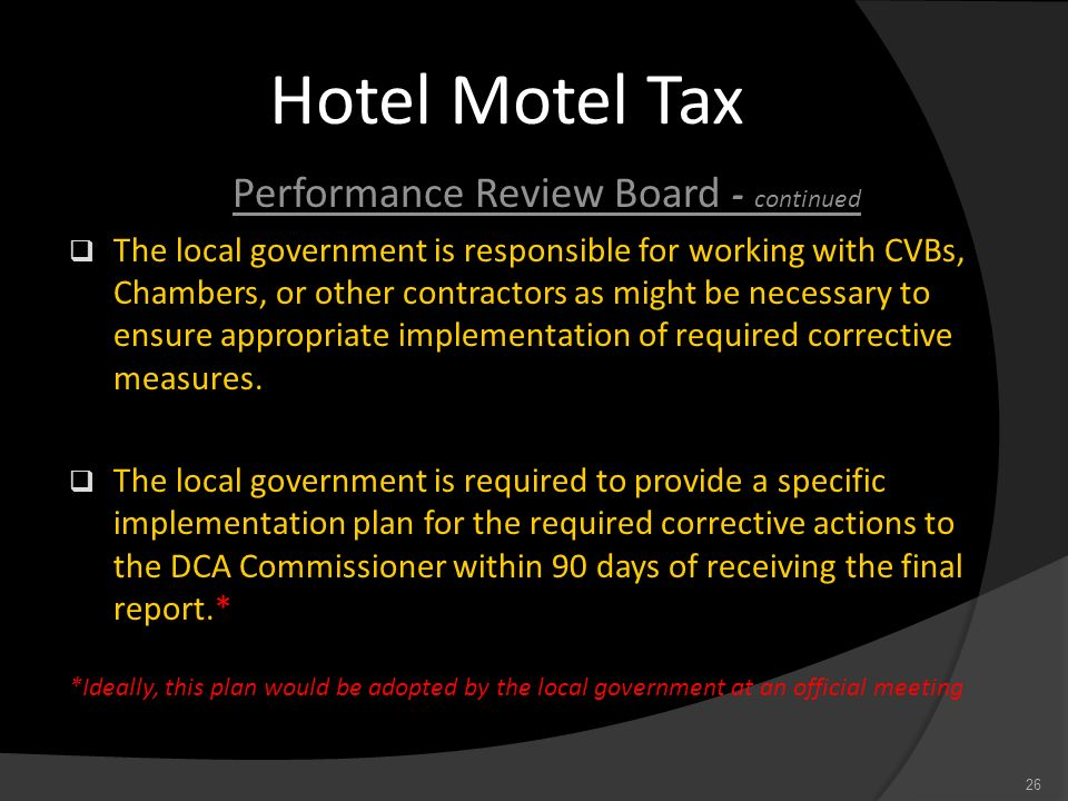 Performance Review Board - continued