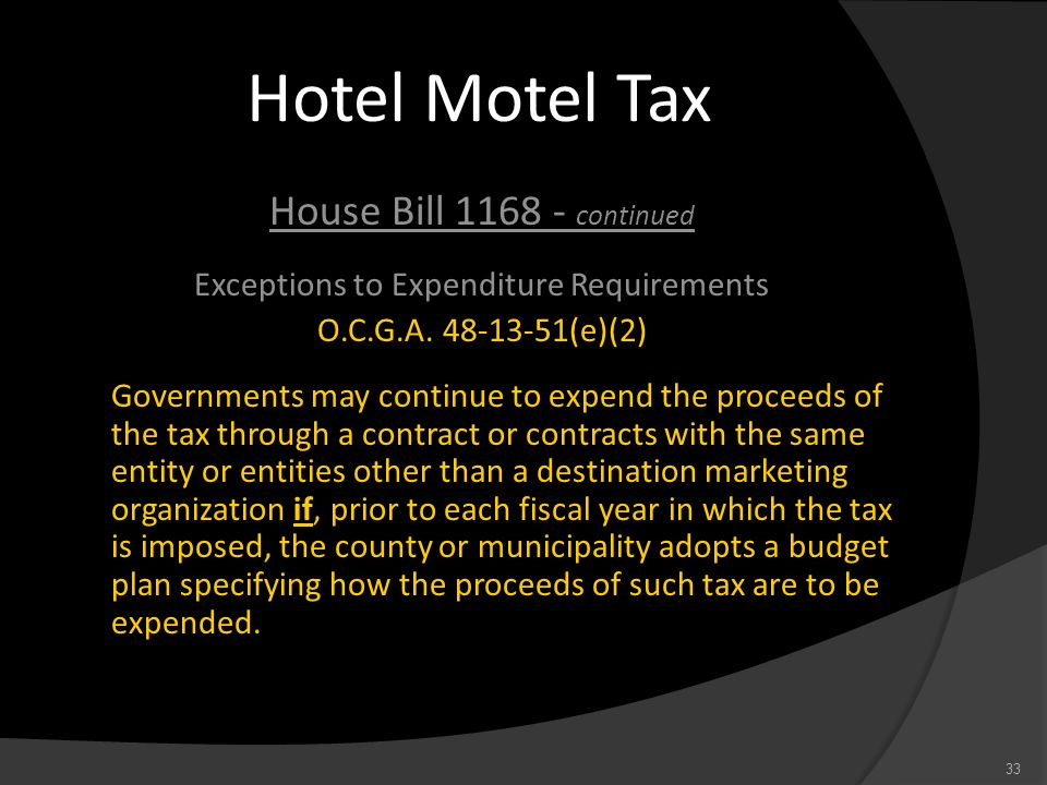 Exceptions to Expenditure Requirements