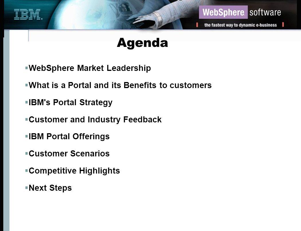 Agenda WebSphere Market Leadership