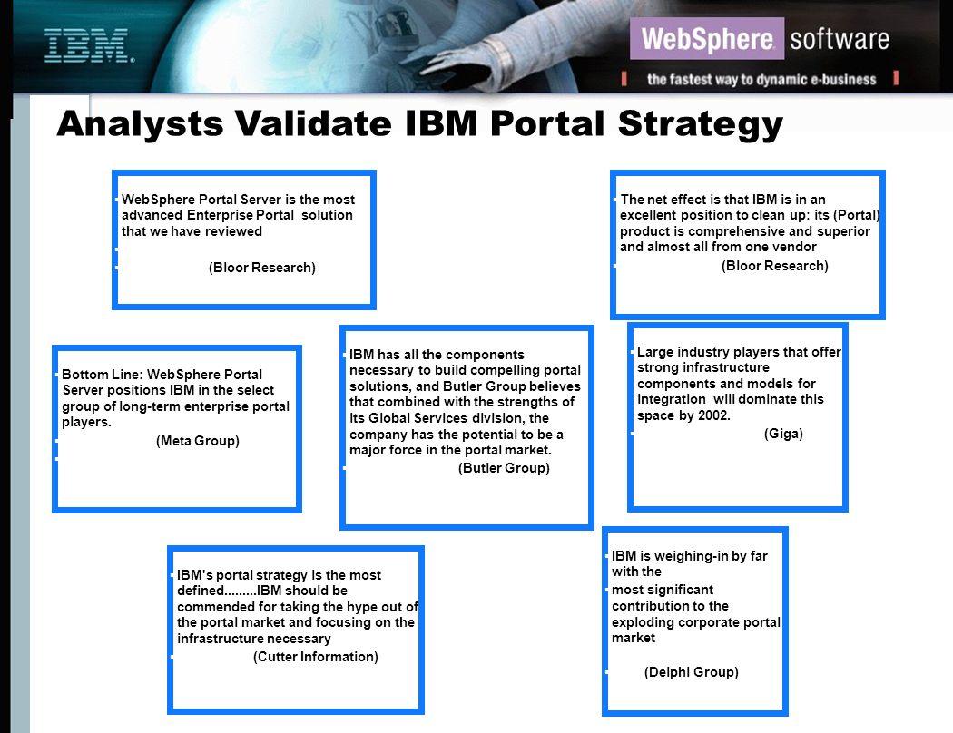 Analysts Validate IBM Portal Strategy