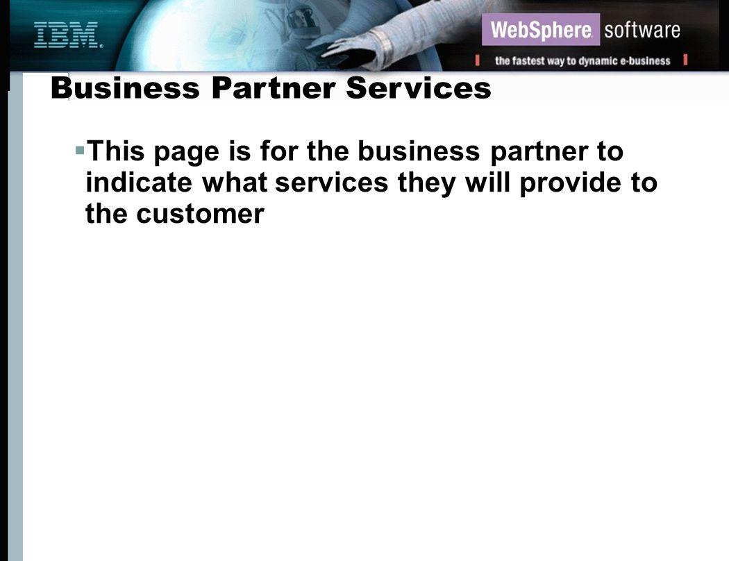 Business Partner Services