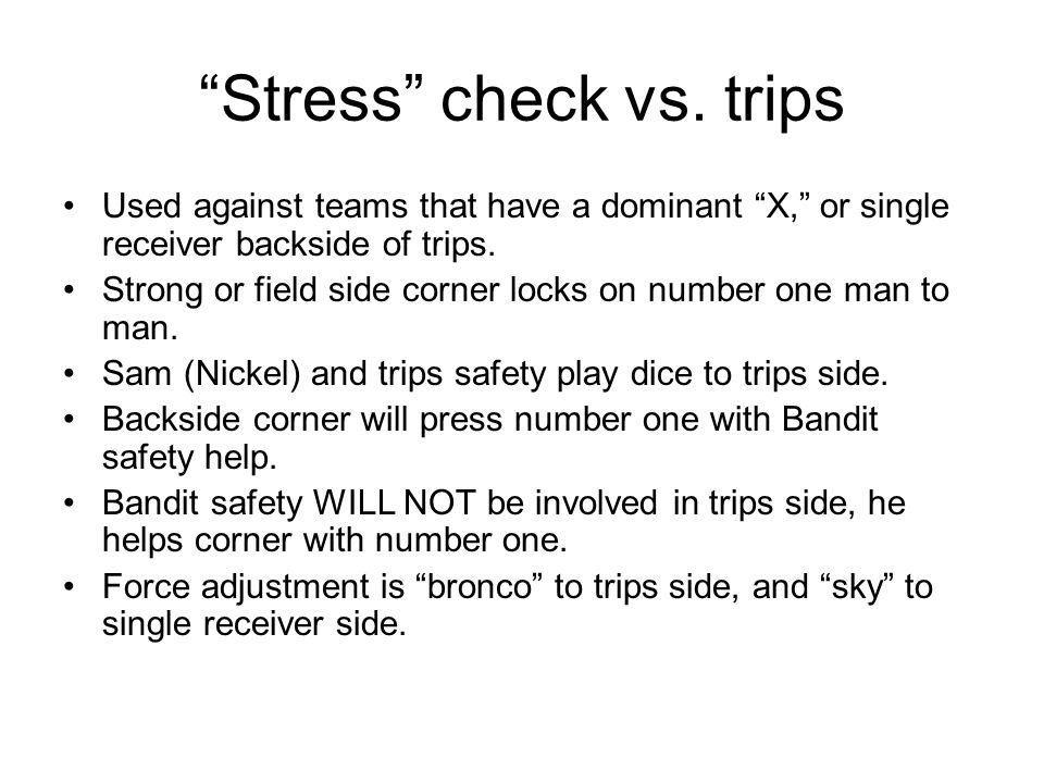 Stress check vs. trips