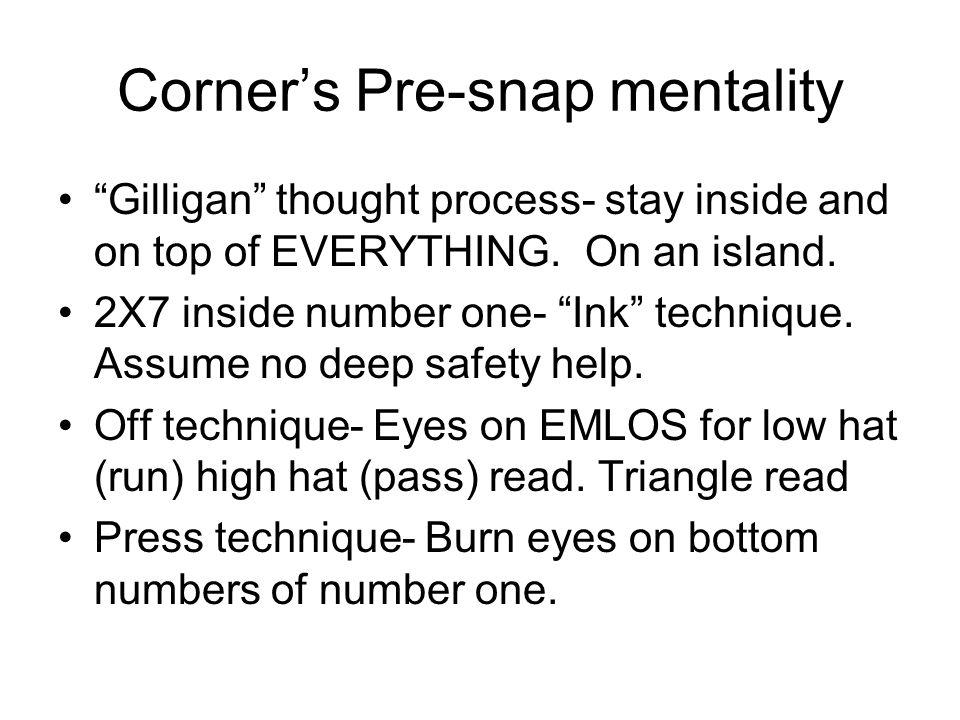 Corner's Pre-snap mentality