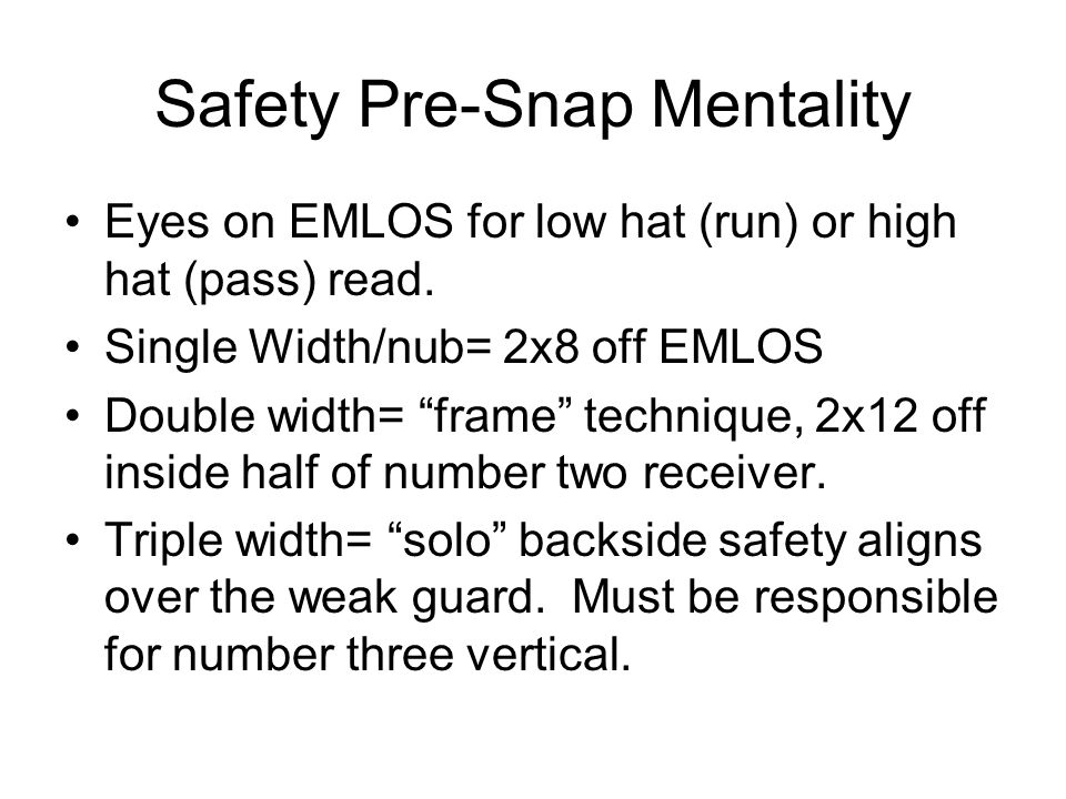 Safety Pre-Snap Mentality