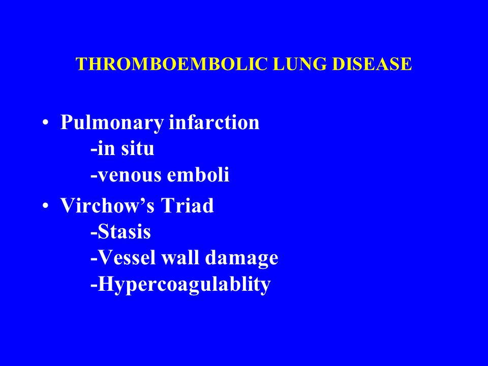 THROMBOEMBOLIC LUNG DISEASE