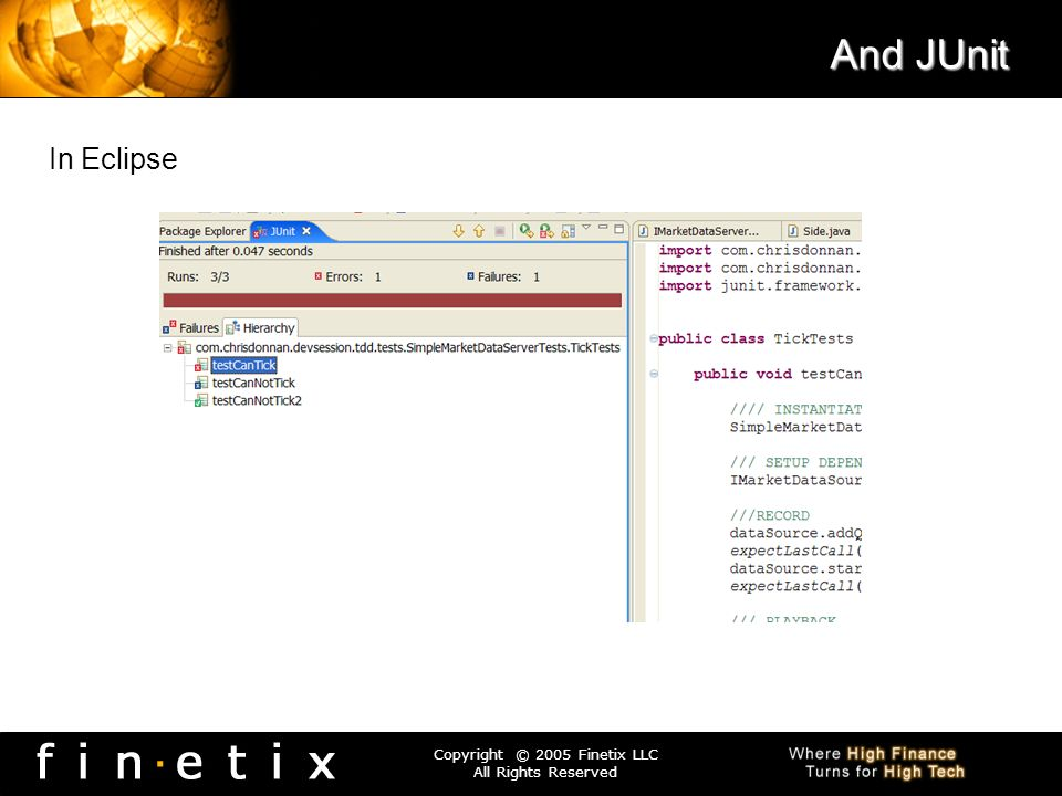 And JUnit In Eclipse