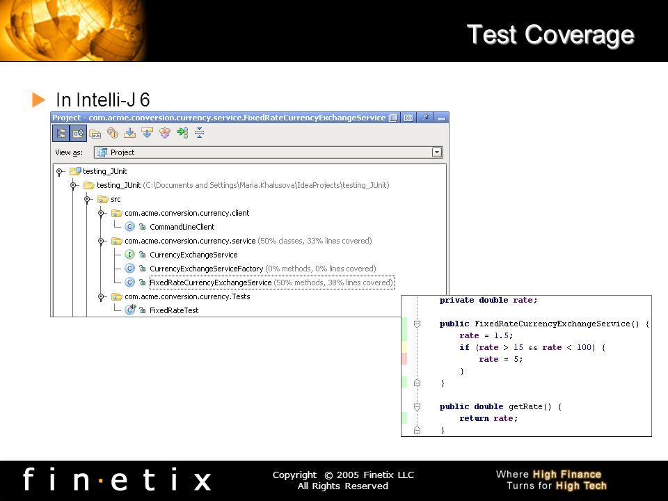 Test Coverage In Intelli-J 6