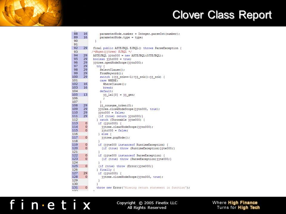 Clover Class Report