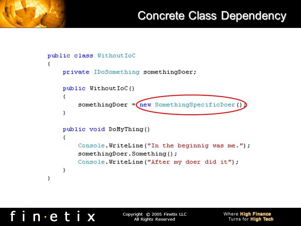 Concrete Class Dependency