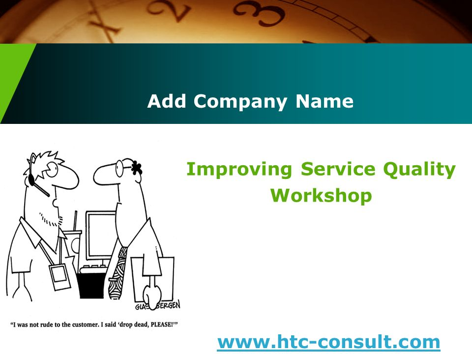 Improving Service Quality Workshop
