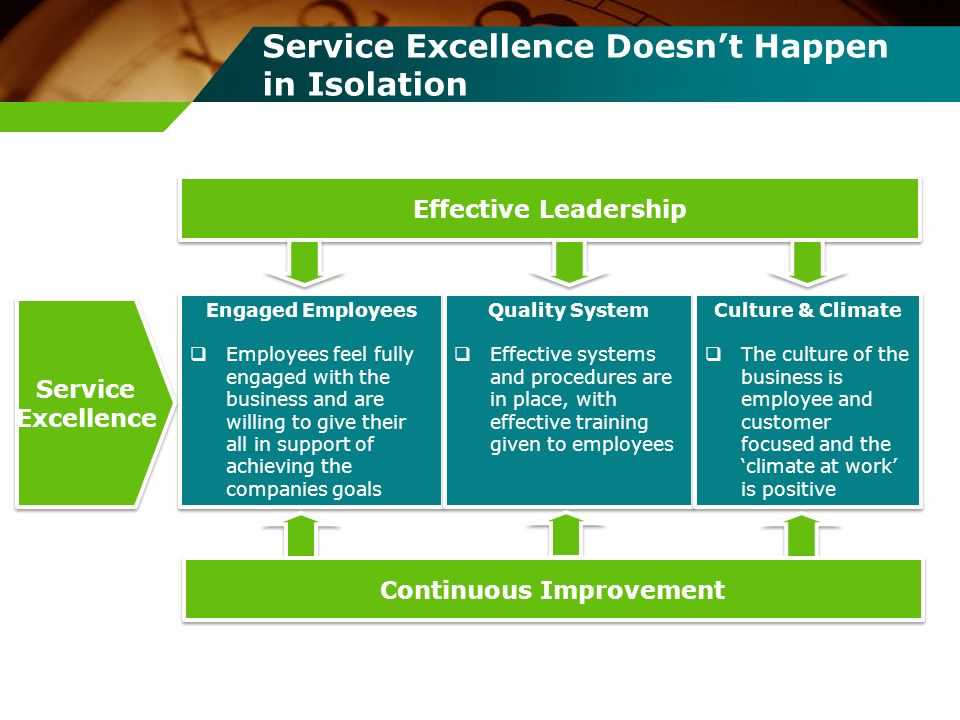 Service Excellence Doesn't Happen in Isolation