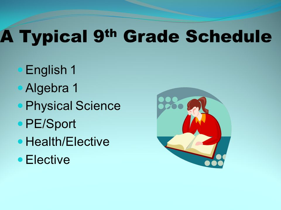 A Typical 9th Grade Schedule