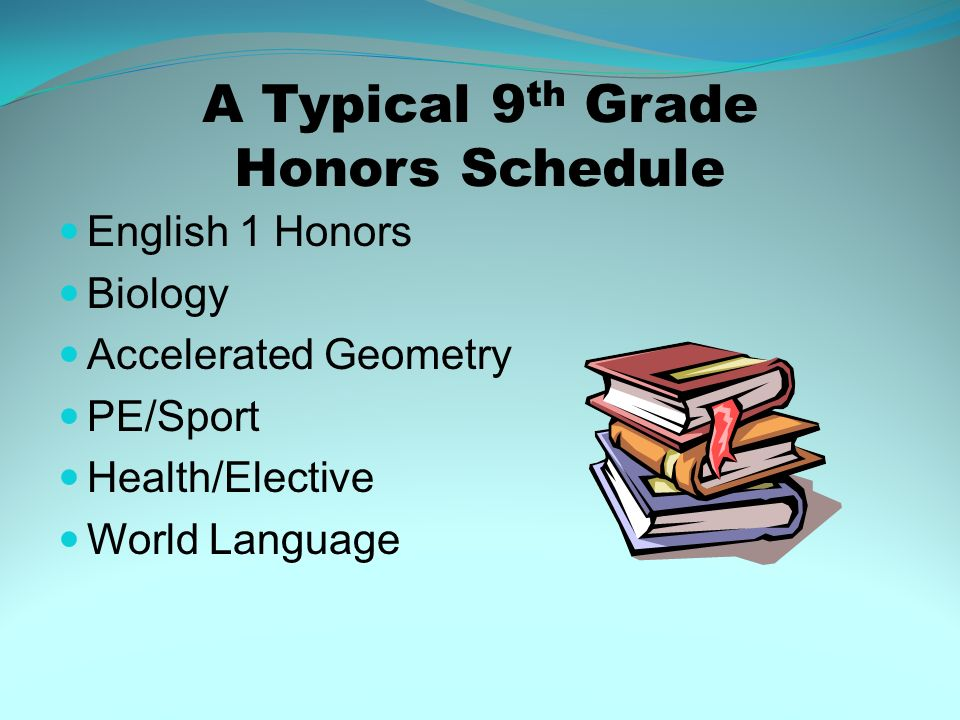A Typical 9th Grade Honors Schedule