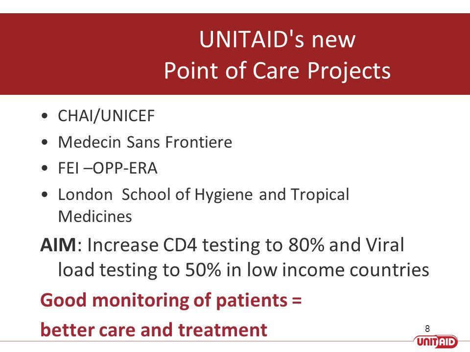 UNITAID s new Point of Care Projects