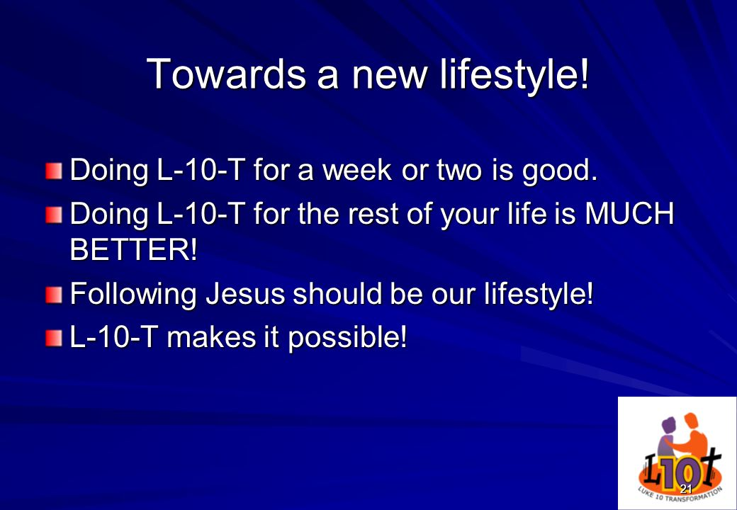 Towards a new lifestyle!