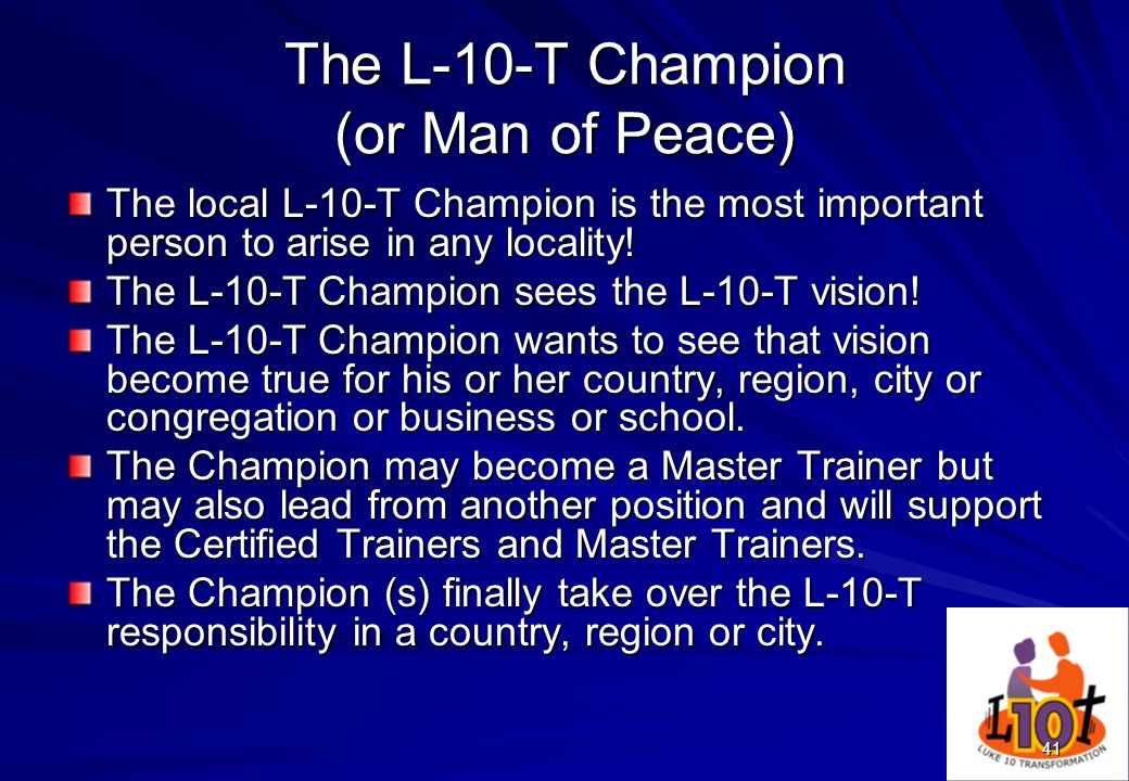 The L-10-T Champion (or Man of Peace)