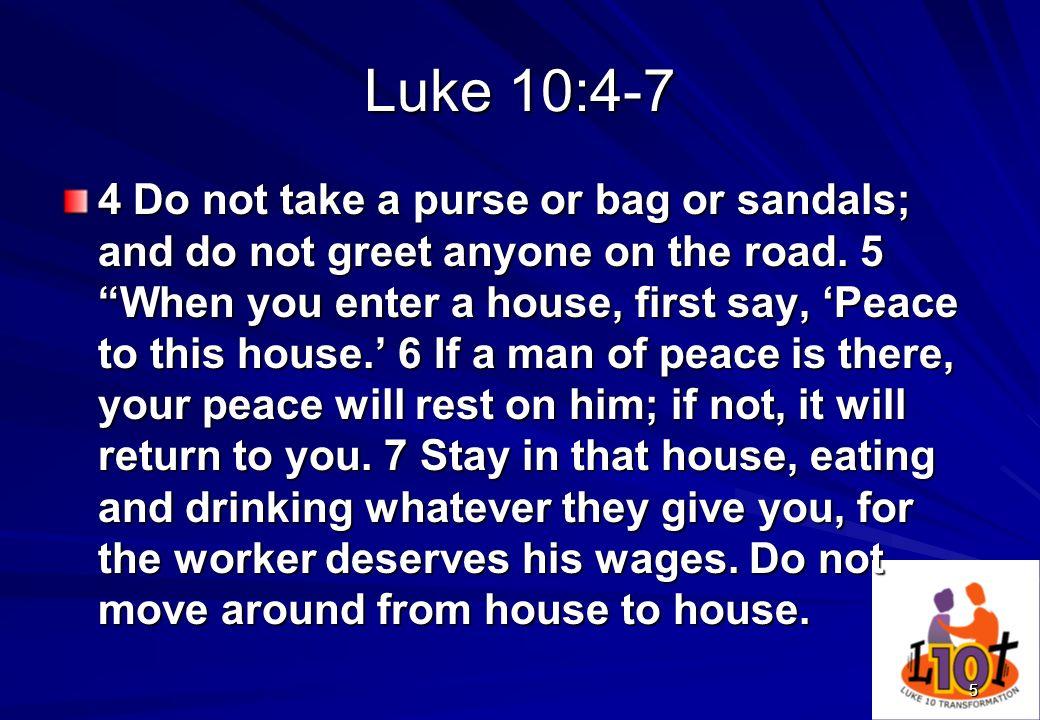Luke 10:4-7