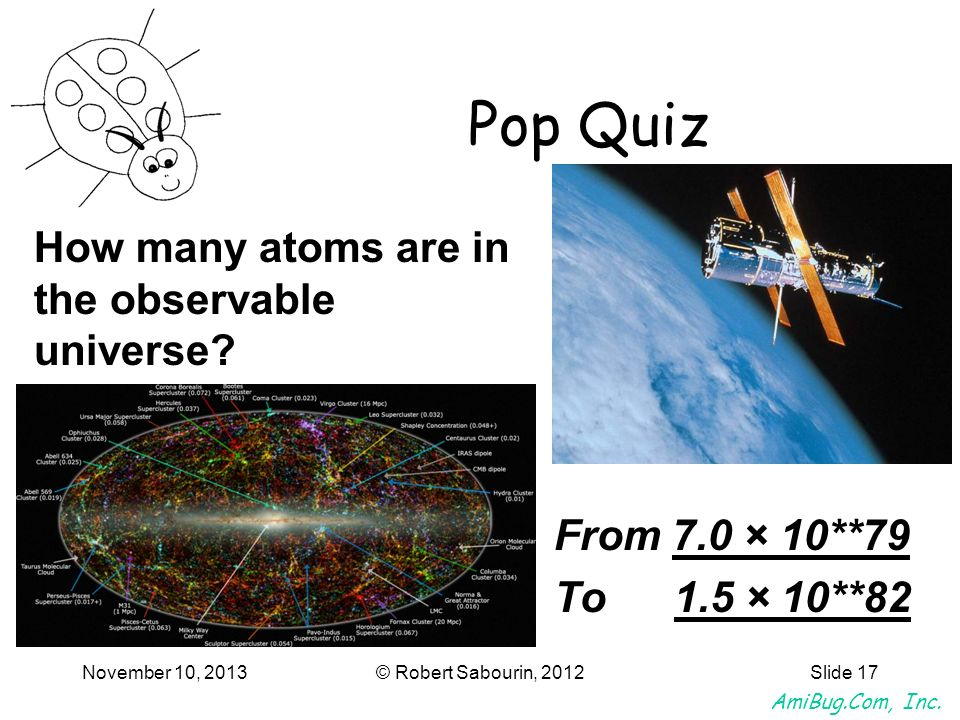 Pop Quiz How many atoms are in the observable universe