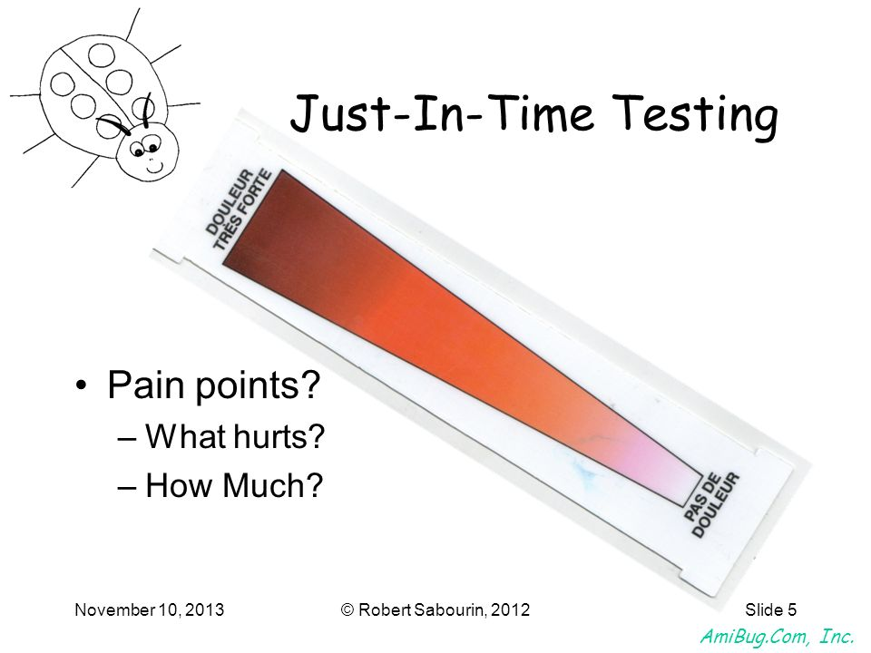 Just-In-Time Testing Pain points What hurts How Much March 25, 2017
