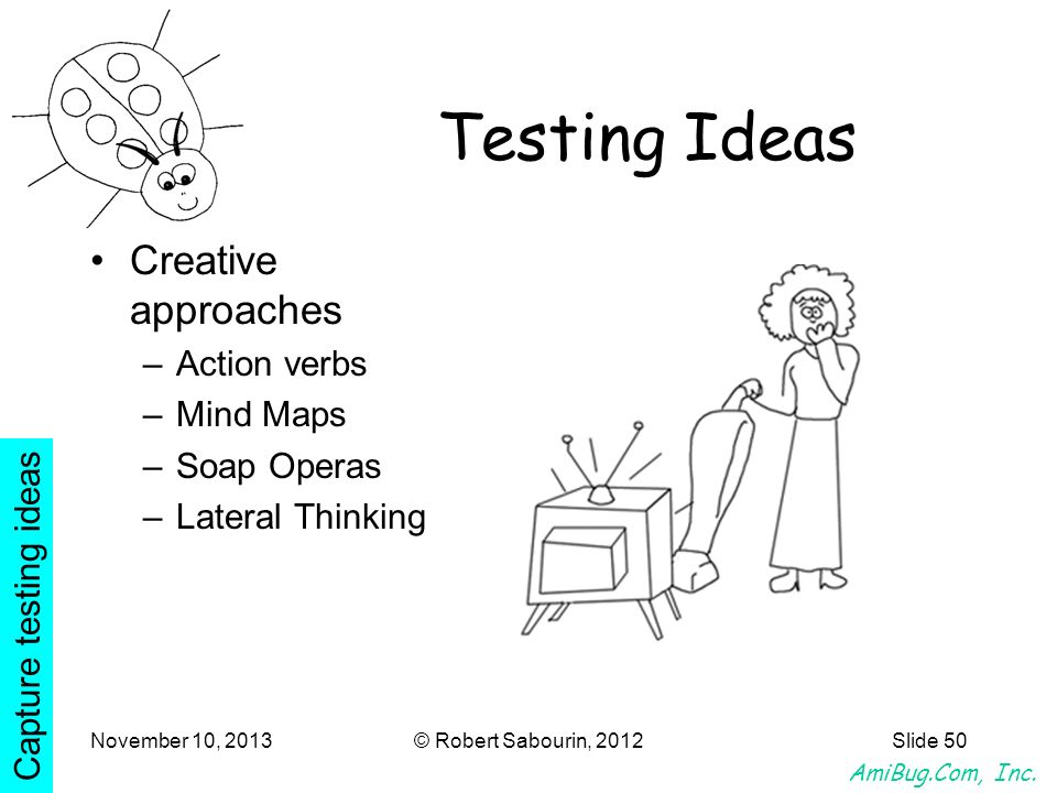 Testing Ideas Creative approaches Action verbs Mind Maps Soap Operas
