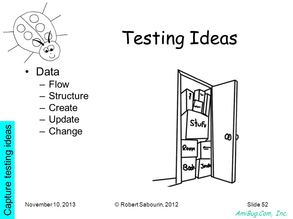 Testing Ideas Data Flow Structure Create Update Change
