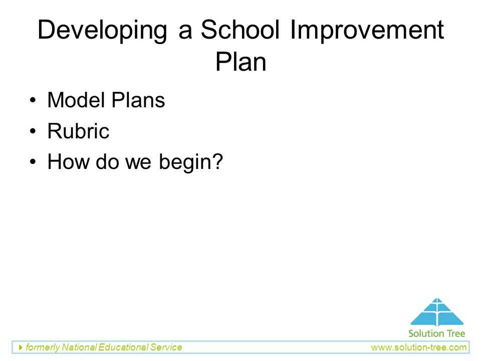 Developing a School Improvement Plan