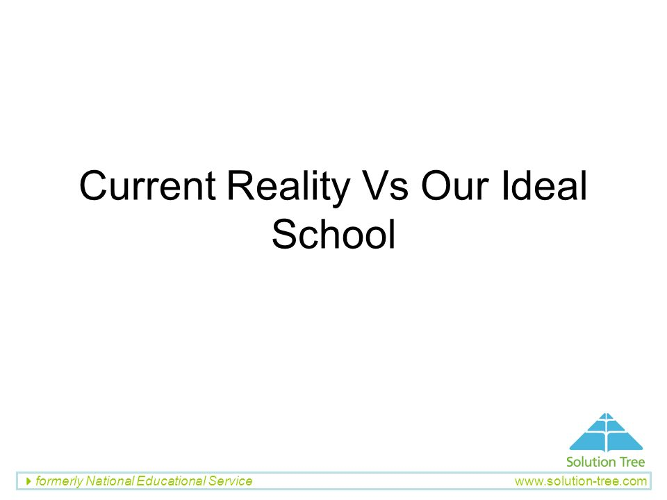 Current Reality Vs Our Ideal School