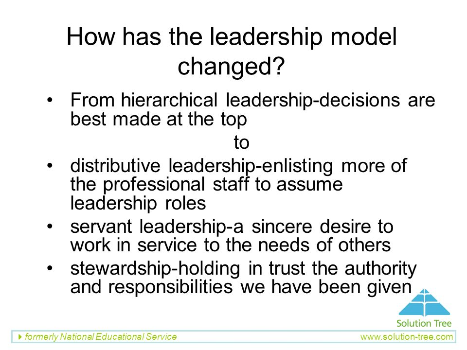 How has the leadership model changed