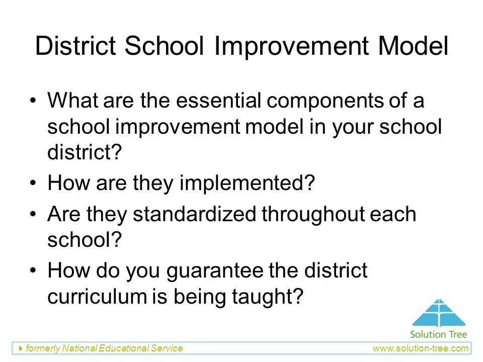 District School Improvement Model