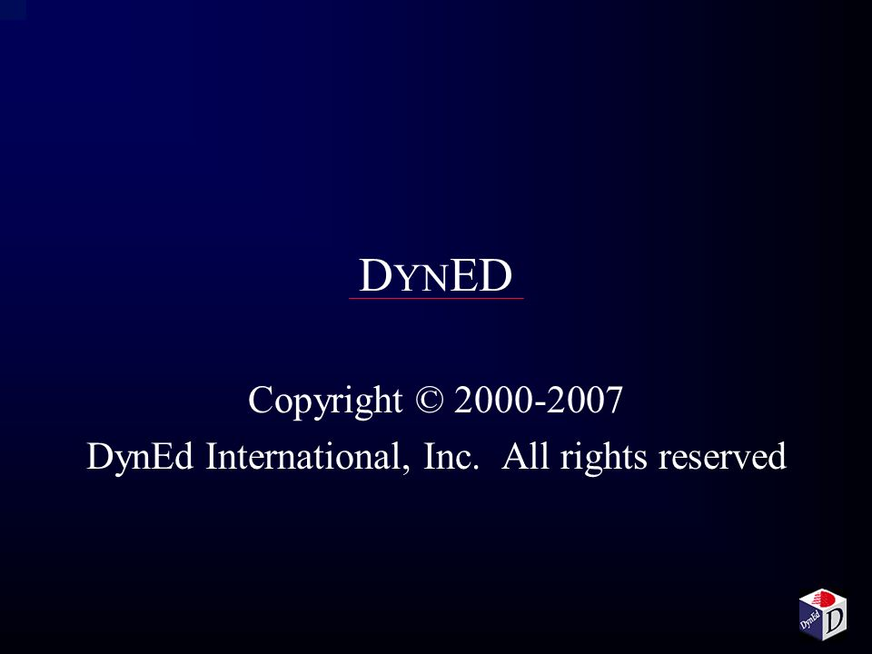 Copyright © DynEd International, Inc. All rights reserved
