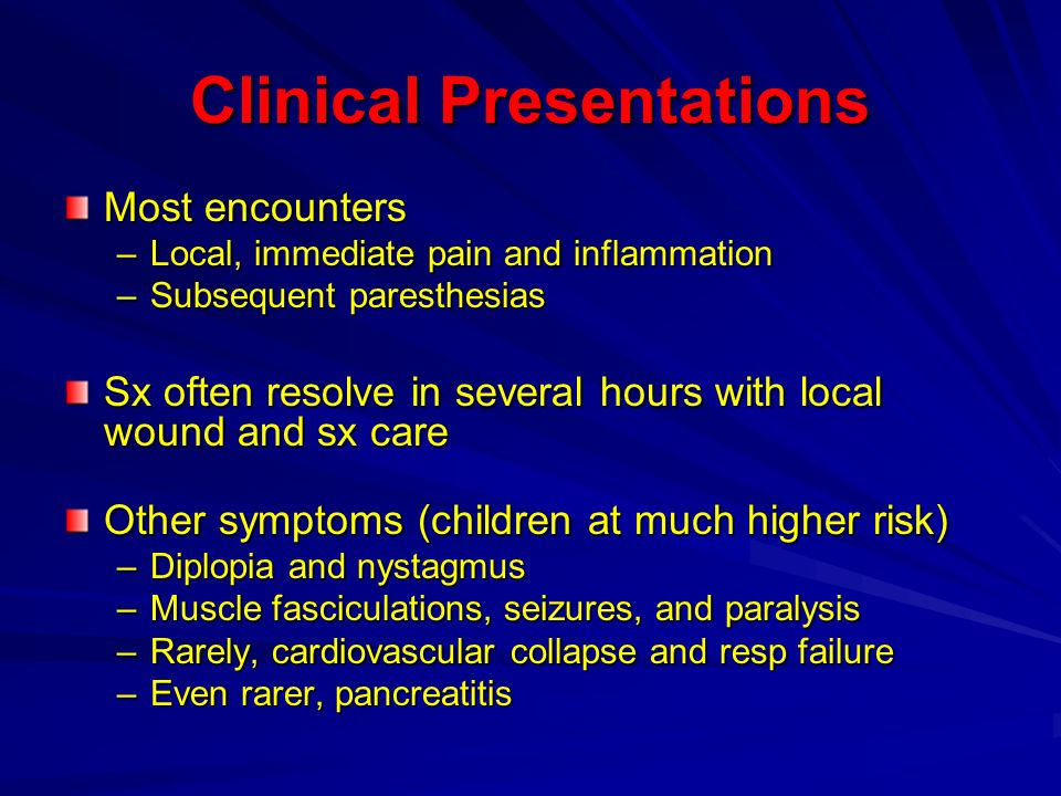 Clinical Presentations
