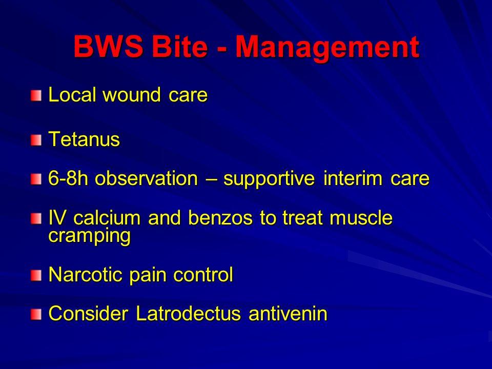 BWS Bite - Management Local wound care Tetanus