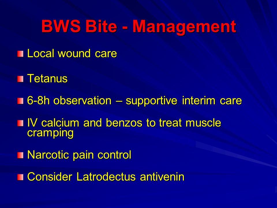 BWS Bite - Management Local wound care Tetanus