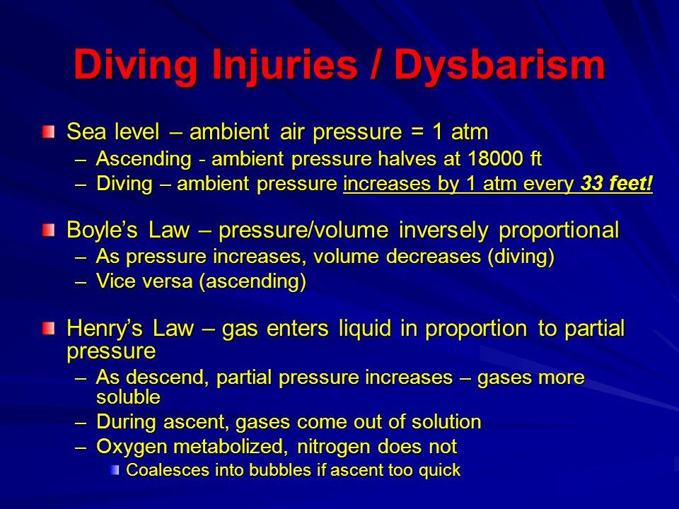 Diving Injuries / Dysbarism