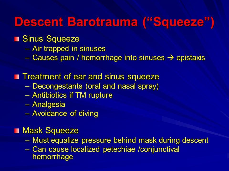 Descent Barotrauma ( Squeeze )