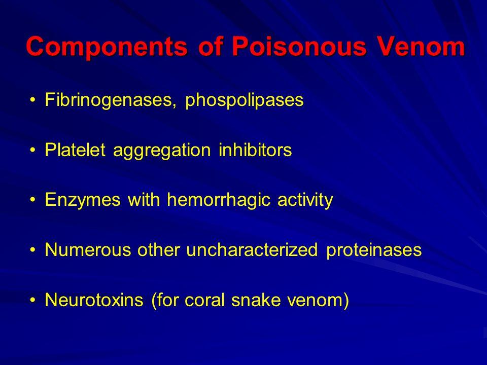 Components of Poisonous Venom