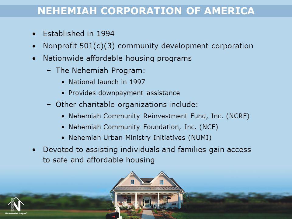 NEHEMIAH CORPORATION OF AMERICA