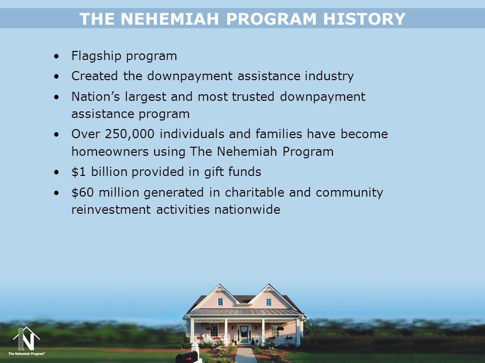 THE NEHEMIAH PROGRAM HISTORY
