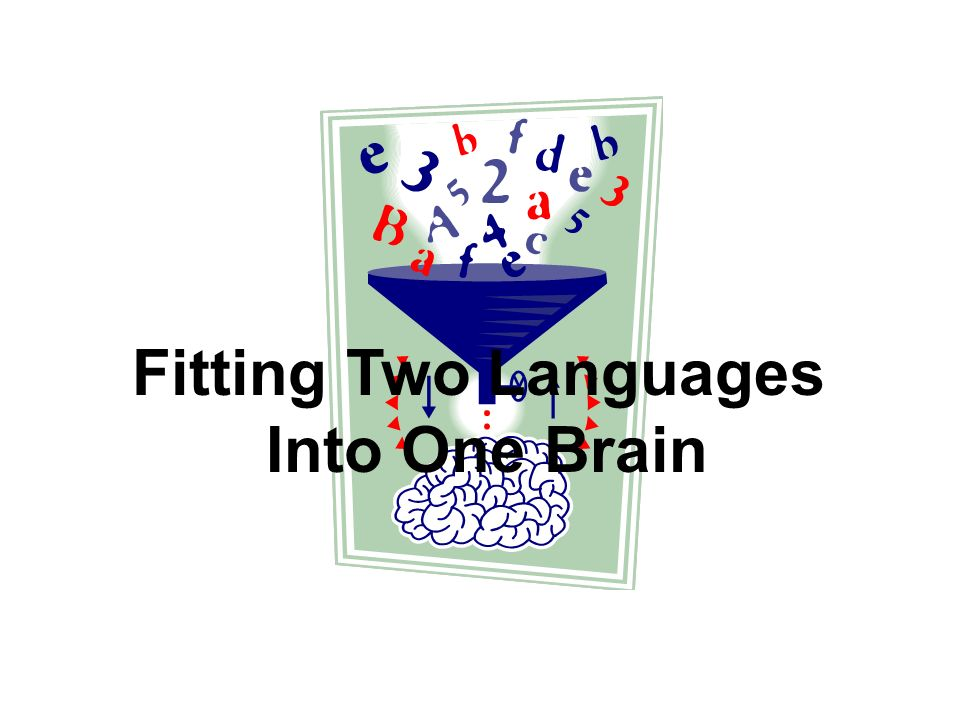 Fitting Two Languages Into One Brain