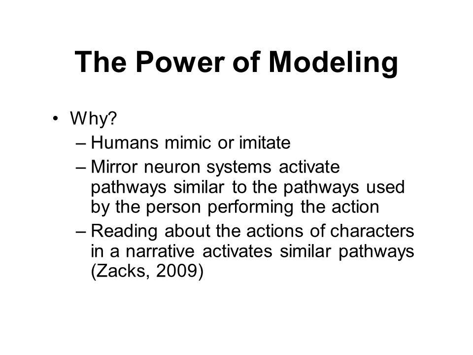 The Power of Modeling Why Humans mimic or imitate