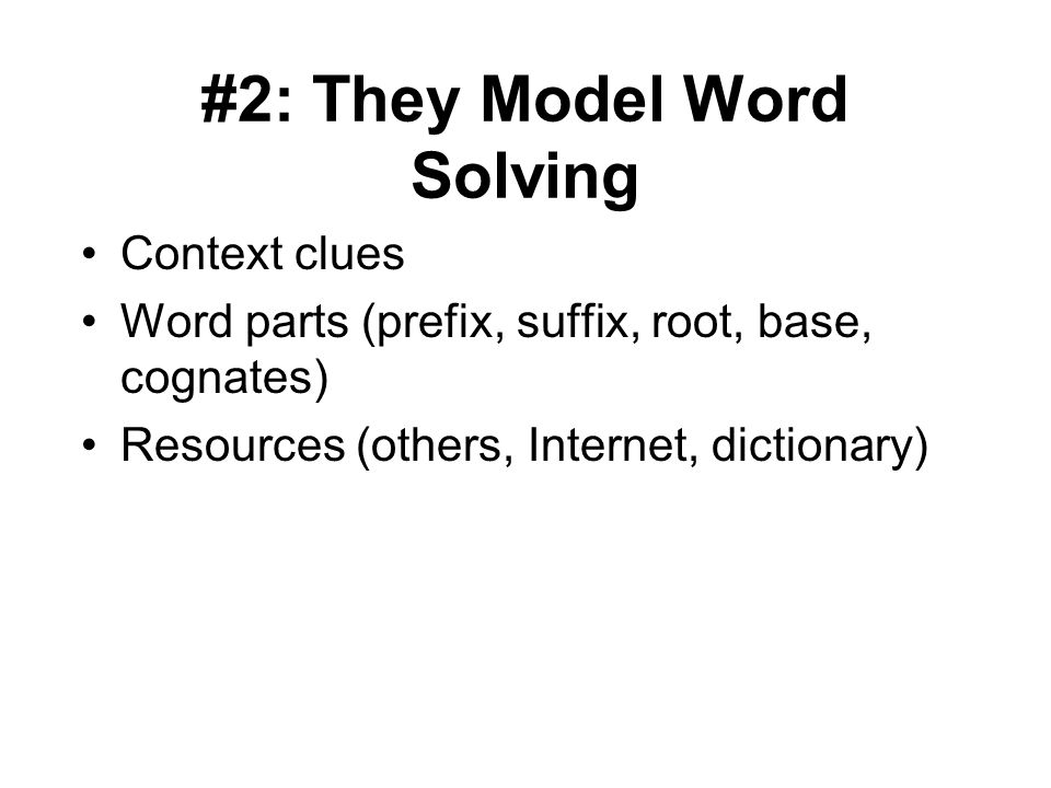 #2: They Model Word Solving