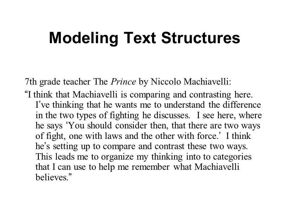 Modeling Text Structures
