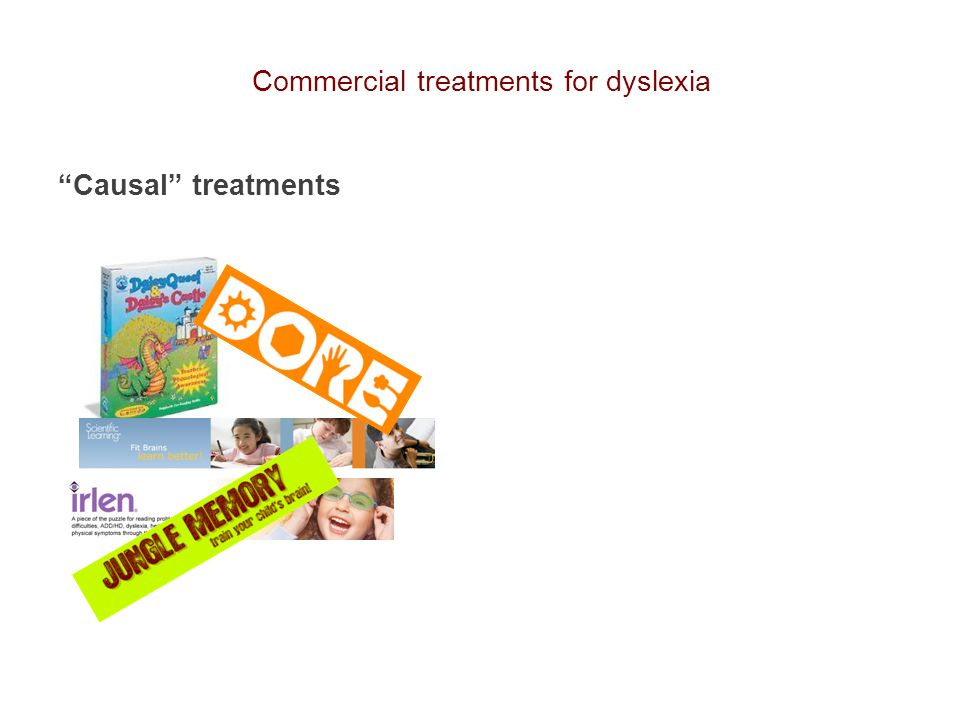 Commercial treatments for dyslexia