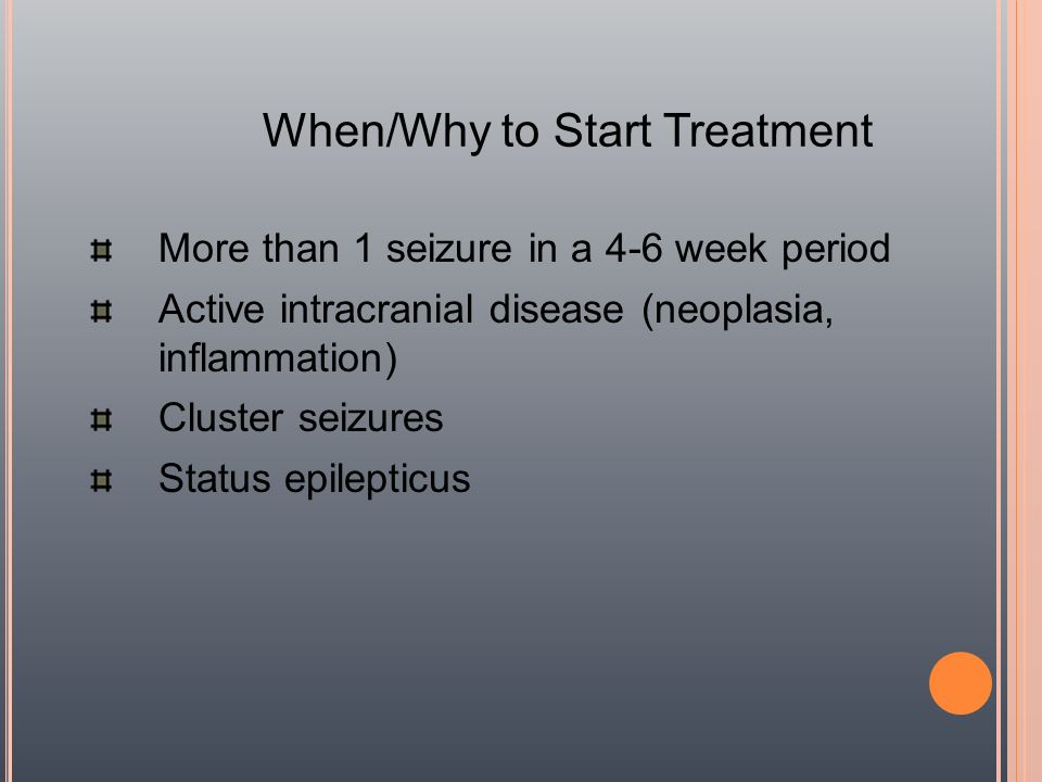 When/Why to Start Treatment