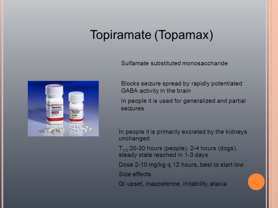 Topiramate (Topamax) Sulfamate substituted monosaccharide