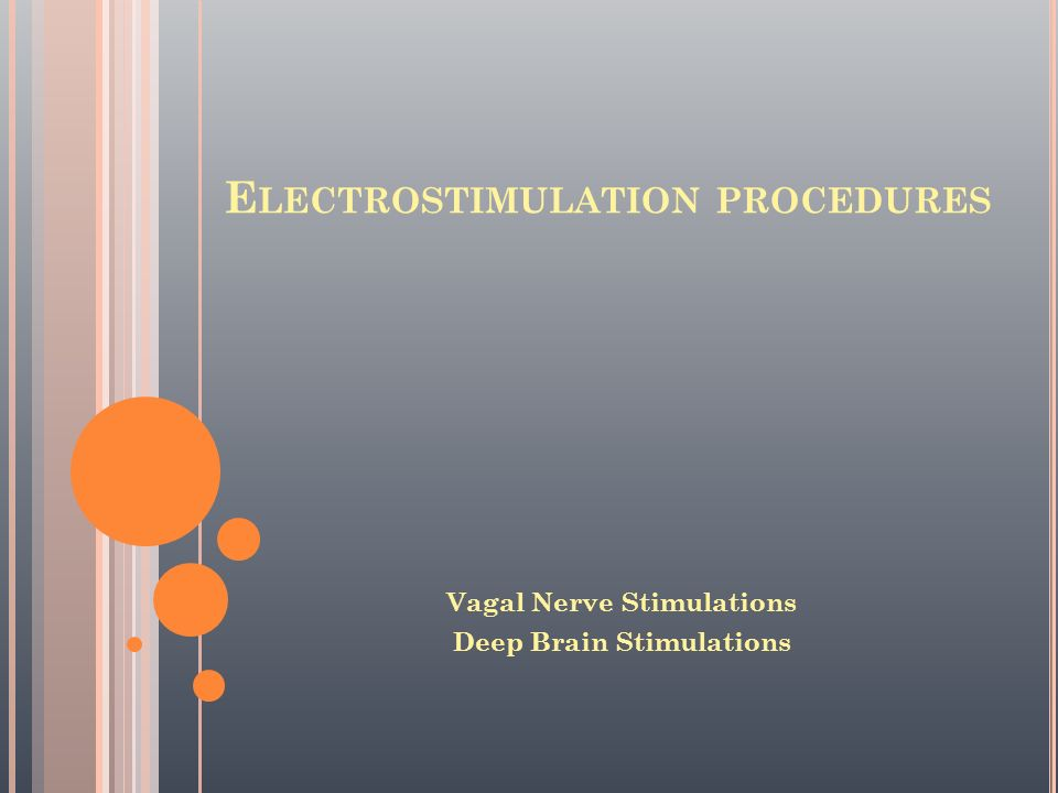 Electrostimulation procedures